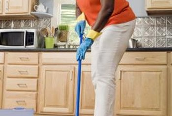 A slightly damp mop is best for cleaning vinyl plank flooring.