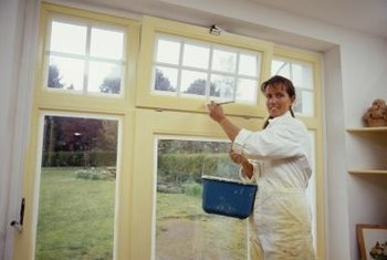 How to remove paint from an interior wood window home for How to paint wood windows interior