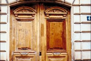 how to refinish front doorHow to Refinish SunDamaged Wood Doors  Home Guides  SF Gate