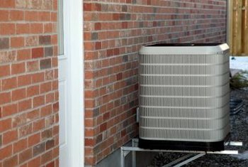 Geothermal heat pumps rely on a heat exchanger that sits outside the home.