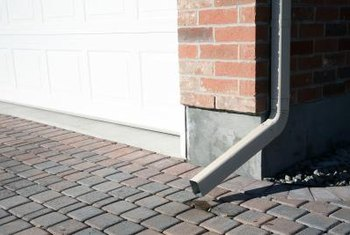 Downspouts usually require some additional drainage measures.