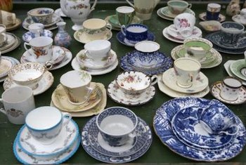 Bring cups and saucers out of storage and into your home.