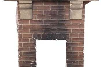 Just because your fireplace came with an old-fashioned red-brick facade doesn