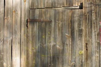 Old barn wood can be reclaimed and made into decorative items.