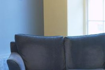 A blue couch may anchor a wide variety of decor schemes.