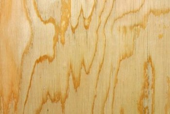 Small cracks, called checking, may appear on the surface of plywood as it dries.