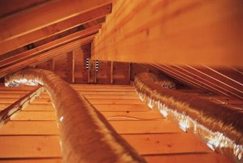 Attic flooring provides additional storage space.