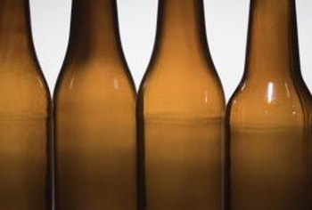 Glass bottles, including brown and green ones, can be recycled.