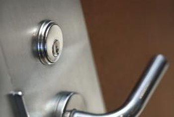 A handle or knob, as well as a deadbolt lock, can be attached to a metal door.