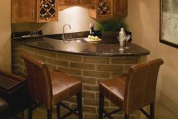 Standard wet bar dimensions ensure you build a wet bar that's structurally sound and functional.