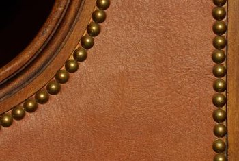 Top-grain leather has distinguishing features and patterns in the grain.