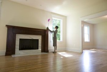 Most paints will melt from the extreme heat inside a fireplace.