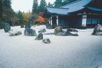 A Japanese rock garden aids the meditation of both gardener and viewer.