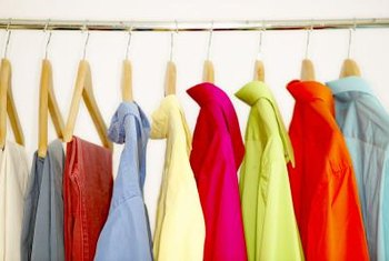 A closet rod allows you to hang clothes so they stay wrinkle-free.