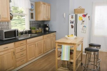 Hiding your counter appliances will make your kitchen look cleaner and more put together.
