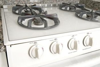 Cleaning your gas stove after each use minimizes stains and discoloration.
