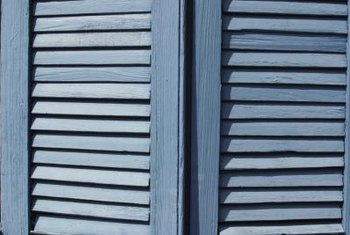 Repurpose shutters to decorate any style decor.