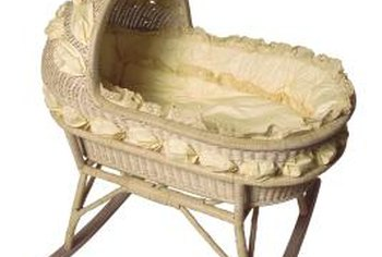 Victorian cradles were often made of wicker.