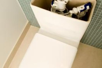 Operational components in your toilet's tank are waterproof but not necessarily chemical-resistant.