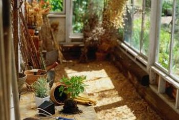 Passive solar collectors will keep your greenhouse warm at night.