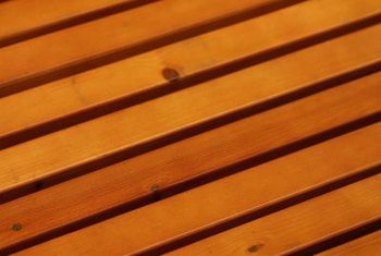 Multiple-color stains make for a decorative deck.