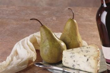 Pears can be served as a dessert with wine and cheese.