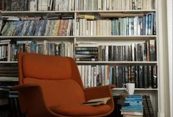 A comfortable chair and good books are essential components of a reading nook.