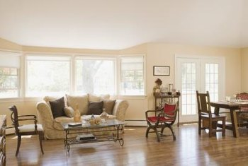 Buffing quickly restores the shine and beauty of a hardwood floor.