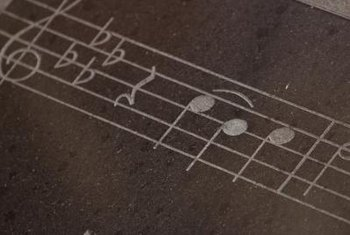 A music staff contains five equally spaced lines.