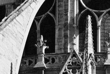 The flying buttress is a particularly impressive method of resisting the outward thrust of a roof.