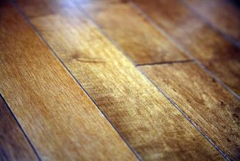 Polyurethane seals wood floors and gives them a rich sheen.