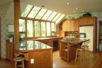 Cantilevered supports are found in many kitchens.