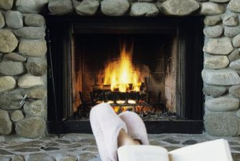 Build a custom rock surround for your gas fireplace.
