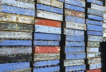 Colorful pallets are a rare find, but they make interesting artistic objects.