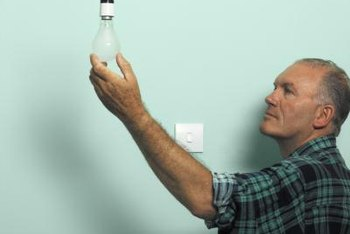 Make note of ways to improve energy efficiency, such as switching to CFL lightbulbs.
