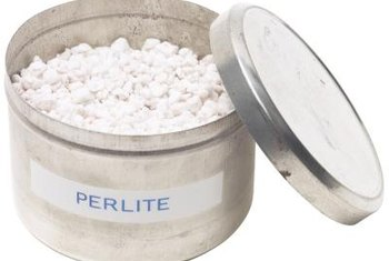 Perlite is made from volcanic material heated to extremely high temperatures.