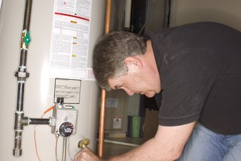 Use caution when checking your water heater for signs of failure.