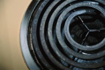 Stove-top drip pans sit under the burner and can accumulate large amounts of grease and grime.