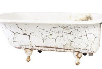Refinishing serves as an ideal way to restore a classic claw-foot tub.