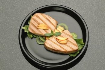 Tuna and halibut are rich sources of protein.