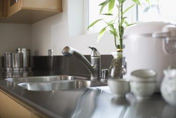 Replace old, worn-out parts to stop faucet water leaks.