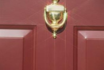 A shiny new door knocker can impress guests or potential buyers.