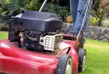 Mowers can damage improperly placed edging, creating water problems.