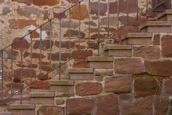 Brick stairs require periodic maintenance to avoid cracking.