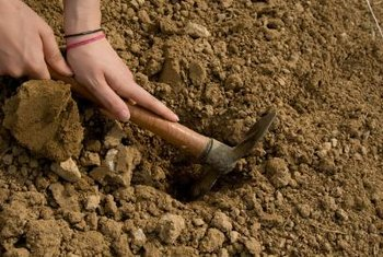Break up soil clods into progressively smaller clods while the soil dries.