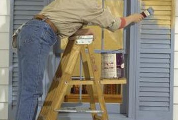 Wooden shutters must be painted every few years in order to maintain their appearance.