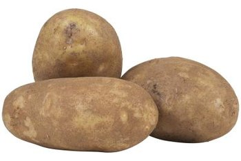 Potato sprouts grow from the eyes of mature potatoes.