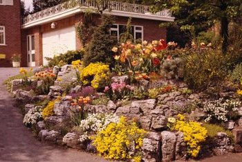 A rockery in the front yard can add curb appeal day and night