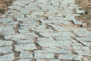 Weathered paving stones sometimes need a cleaning to restore them to their original beauty.