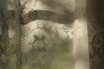 Lace curtains are attractive, but a bit delicate.